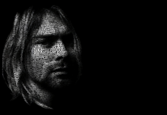 kurt cobain, nirvana, art, music, portrait wallpaper