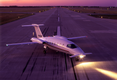 Piaggio, P180 Avanti, green concept, aircraft, night, jet wallpaper