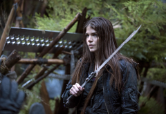 marie avgeropoulos, actress, sword, the 100, brunette, warrior, tv-series, movies, women wallpaper