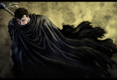 kentaro miura, berserk, guts, anime wallpaper