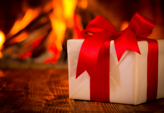 christmas, xmas, fire, gift, new year wallpaper
