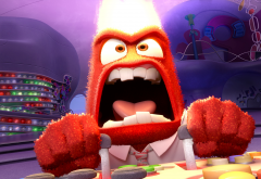 inside out, anger, cartoon, movies wallpaper