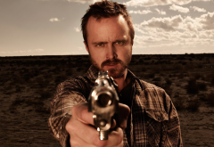 men, Breaking Bad, TV, Jesse Pinkman, Aaron Paul, guns, weapons, actors wallpaper