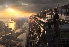 the walk, joseph gordon-levitt, philippe petit, skyscrapers, new york, movies wallpaper
