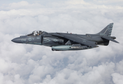 mcdonnell douglas, av-8b, harrier ii, aircraft, clouds wallpaper