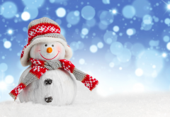 snowman, new year, christmas, holiday, toy, snow wallpaper