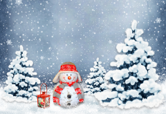 snowman, new year, christmas, christmas tree wallpaper