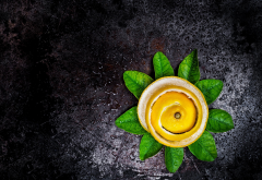 lemon, lemon skin, fruits, food, leaves wallpaper