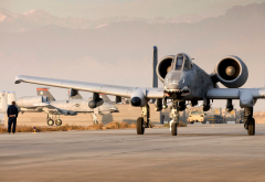 fairchild, a-10, thunderbolt ii, military aircraft, aircraft, runway wallpaper