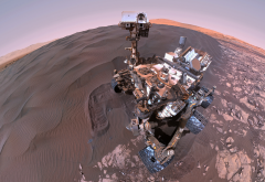 curiosity, robotic rover, gale crater, mars, space, selfie wallpaper