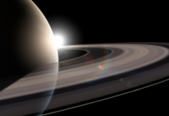 Saturn, planet, Solar System, planetary rings, space wallpaper