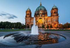 berlin, germany, architecture, castle, fountain, cathedral, dome wallpaper