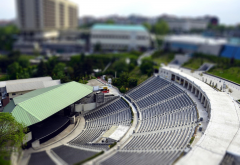 Istanbul, Turkey, tilt shift, theaters, building, city, cityscape wallpaper