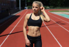 women, abs, sport, running, stadium wallpaper