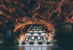 stockholm, underground, subway, metro, escalator, sweden, city wallpaper