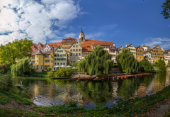 tubingen, baden-wurttemberg, germany, neckar river, city wallpaper