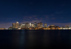 boston skyline, skyscrapers, boston, massachusetts, usa, city wallpaper