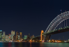 sydney harbour bridge, sydney, australia, city, night, bridge wallpaper