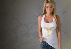 sara jean underwood, blonde, jeans, actress, model, playboy wallpaper