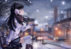 anime, headphones, ore no imouto ga konnani kawaii wake ga nai, gokou ruri wallpaper