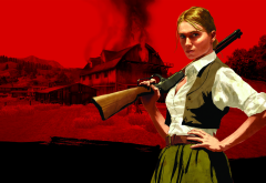 bonnie macfarlane, red dead redemption, gun, riffle, video games wallpaper