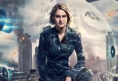 the divergent series: allegiant, tris, the allegiant, shailene woodley, actress, movies, space wallpaper