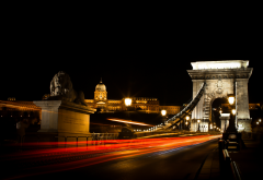 budapest, hungary, chain bridge, vity, night, bridge wallpaper