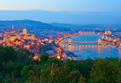 budapest, sunset, city, river, danube, hungary wallpaper