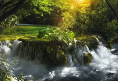 plitvice waterfalls, croatia, cascading waterfall, waterfall, river, nature, forest wallpaper