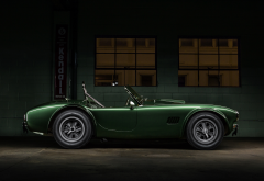 shelby cobra, 1365, dragonsnake csx2472, green car, cars, cabrio wallpaper