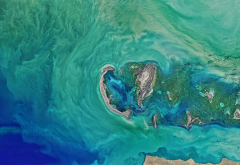 ice scours, caspian sea, nasa, satellite photo, planet, earth, islands, ocean, nature wallpaper
