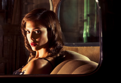jessica alba, actress, women, brunette, in car, celebrity, the killer inside me, movies wallpaper
