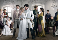 bbc, war and peace, lily james, paul dano, james norton, aneurin barnard, movies, tv series, actors, actress, women, dress wallpaper