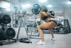sports, position, rod, bar, fitness. women, sport, weightlifting wallpaper