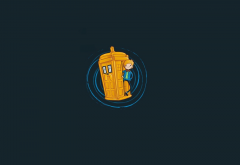 Doctor Who, Finn the Human, Jake the Dog, Adventure Time, minimalism wallpaper