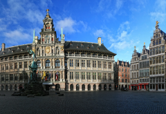 guildhall, guild houses, belgium, antwerpen, city wallpaper