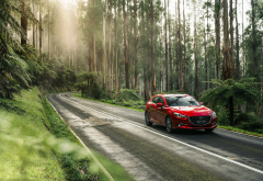 mazda 3 sp25 gt, mazda, road, forest, mazda 3, cars wallpaper