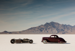 hot rod, rat rod, desert, cars, retro wallpaper