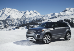 land rover, range rover evoque, cars, mountains, snow, courchevel, range rover wallpaper