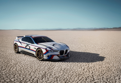 bmw 3.0 csl hommage r, bmw, cars, desert wallpaper