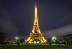 eiffel tower, paris, night, lights, france, city wallpaper