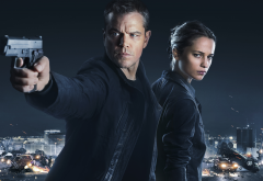 jason bourne, gun, matt damon, movies, alicia vikander, heather lee wallpaper