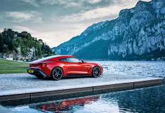 aston martin vanquish zagato, cars, aston martin vanquish, aston martin, mountains wallpaper