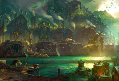 League of Legends, BIlgewater, fantasy art wallpaper