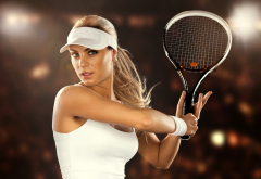 tennis, girl, racket, women, sport, beautiful wallpaper