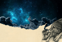 surreal, space, smoking wallpaper