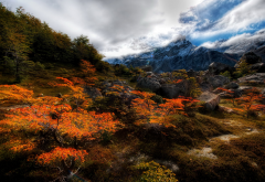 mountains, rocks, argentina, clouds, hdr, nature, autumn wallpaper