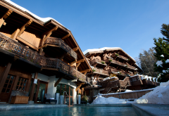 courchevel, , resort, france, house, winter, wooden wallpaper