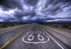 route 66, kansas, road, clouds, landscape, highway 66, usa, nature wallpaper