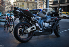 honda cbr, city, bike, motorcycle, honda wallpaper